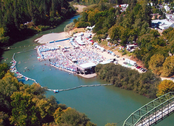 Aerial view of Russian River Jazz & Blues